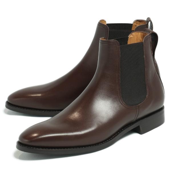 Berwick / バーウィック ダイナイトソール ボックスカーフ サイドゴア ブーツ 革靴 / ダークブラウン 376-dbrown 100