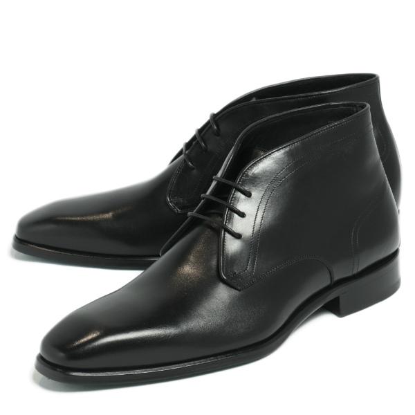 CERBERO / チェルベロ / マッケイ製法 3アイレット チャッカブーツ 革靴 / ブラック ny3-black 100 【返品不可】