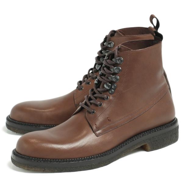 DE MARCHI デマルキ マッケイ製法 クレープソール レースアップ ブーツ 革靴 ダークブラウン D43018-DBR 100 【返品不可】