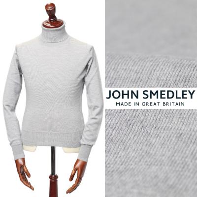 ジョン・スメドレー/JOHN SMEDLEY/PULLOVER RC LS メリノウール タートルネック ニット/グレー BARDOT GREY【送料無料】a3742-gy 100