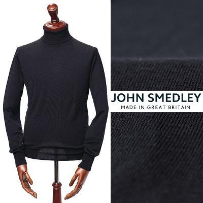 ジョン・スメドレー/JOHN SMEDLEY/PULLOVER RC LS メリノウール タートルネック ニット/ネイビー MIDNIGHT【送料無料】a3742-na 100