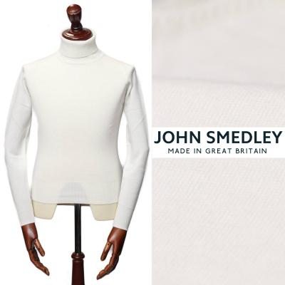 ジョン・スメドレー/JOHN SMEDLEY/PULLOVER RC LS メリノウール タートルネック ニット/オフホワイト SNOW WHITE【送料無料】a3742-w 100