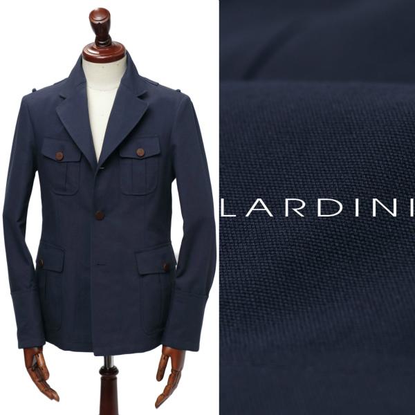ラルディーニ / LARDINI / コットン / サファリジャケット / JM5439 / ネイビー 137 eer50562-na 100 【返品不可】