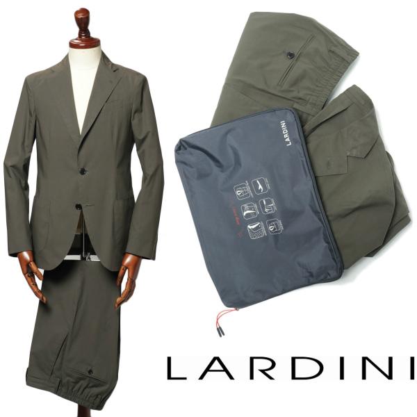 LARDINI / ラルディーニ /EASY WEAR イージーウェア コットン 3B パッカブル ストレッチ スーツ JM031AQ / カーキ【送料無料】 eeev50477-ka 100 【返品不可】