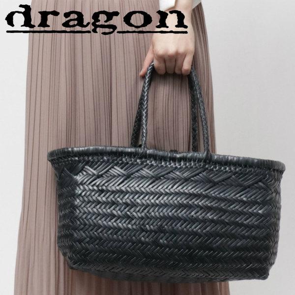 Dragon Diffusion / ドラゴンディフュージョン / 8810 / BAMBOO TRIPLE JUMP BIG doragon / イントレチャート / レザー / メッシュ / トートバッグ 大 / ネイビー dg8810p-na