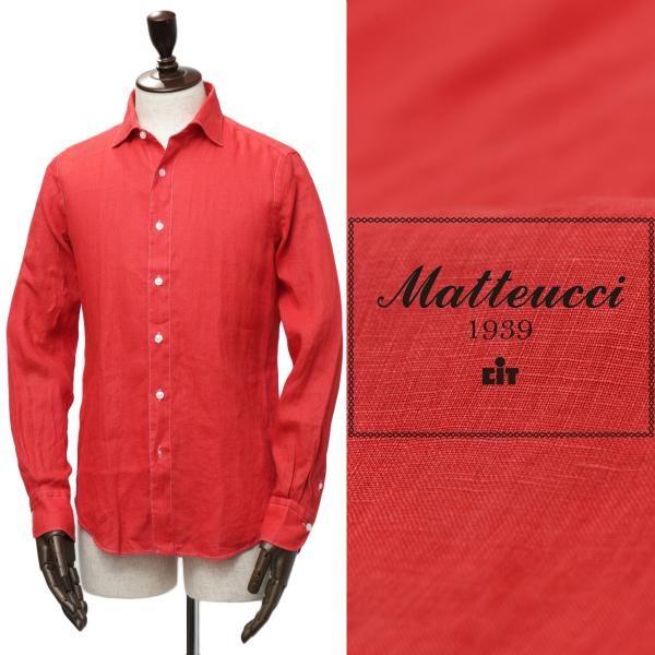 Matteucci / マテウッチ / GVEGAS T / オープンカラー / リネン / シャツ / レッド gvegast-r 100
