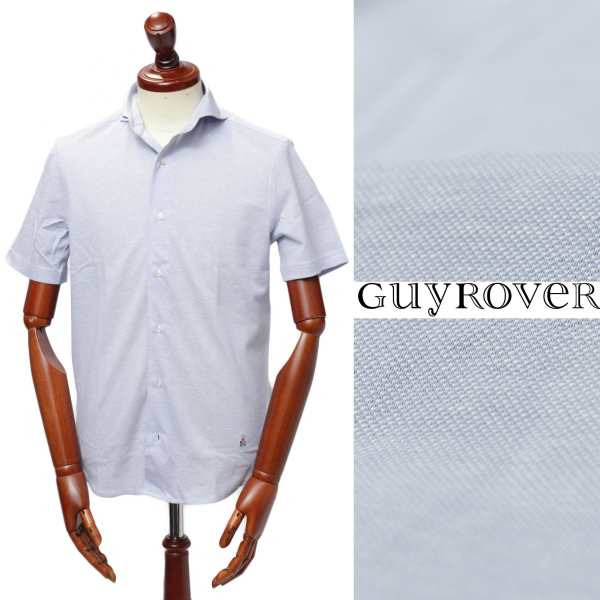 GUY ROVER / ギ ローバー / 鹿の子 / カッタウェイ / 半袖 / シャツ / サックスブルー pc190-sax 100