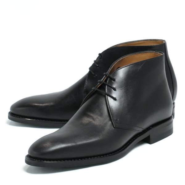 バーウィック / Berwick / ダイナイトソール / ボックスカーフレザー / ラウンドトゥ / チャッカブーツ / 革靴 / ブラック NEGRO 910a-bl 100