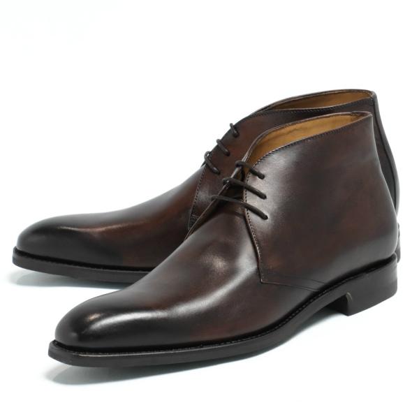 バーウィック / Berwick / ダイナイトソール / ボックスカーフレザー / ラウンドトゥ / チャッカブーツ / 革靴 / ダークブラウン TESTA 910a-dbr 100