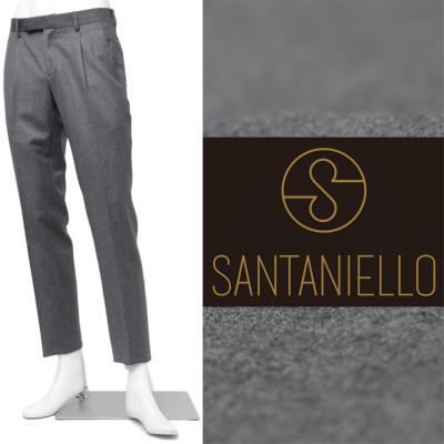 SANTANIELLO / サンタニエッロ /ウール ワンプリーツ スラックス / グレー / 11t1117-gy 100 【返品不可】