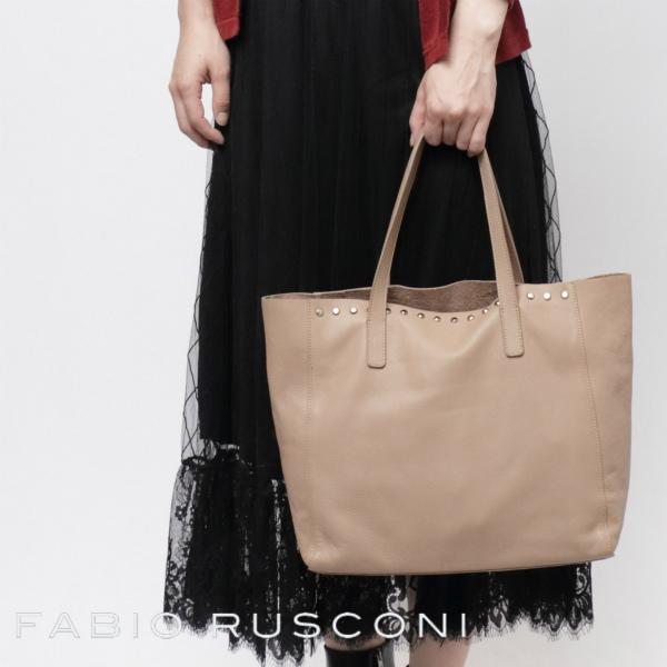 ファビオ ルスコーニ / FABIO RUSCONI / B.OLIVIA / スムース / レザー / 1枚革 / トートバッグ / ベージュ faolivia-bg