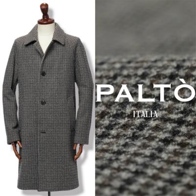 パルト / PALTO /MARCELLO FAI ハウンドトゥース バルカラーコート / グレー / marcellofai-gyc 100 【返品不可】