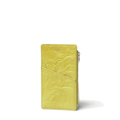 aniary アニアリー ルーガレザー 箔柄型押し 薄型 マルチケース S LEON 22-08002-ye イエロー 100 送料無料 1年保証 お得セット 1月号掲載 スマホケース