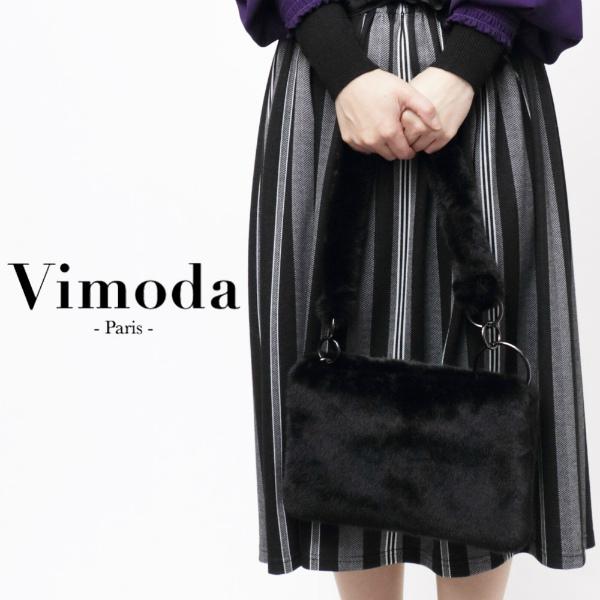 誕生日プレゼント ヴィモーダ Vimoda VM5937 付与 エコファー 3way ショルダーバッグ vm5937-bl 200 ブラック ミニ