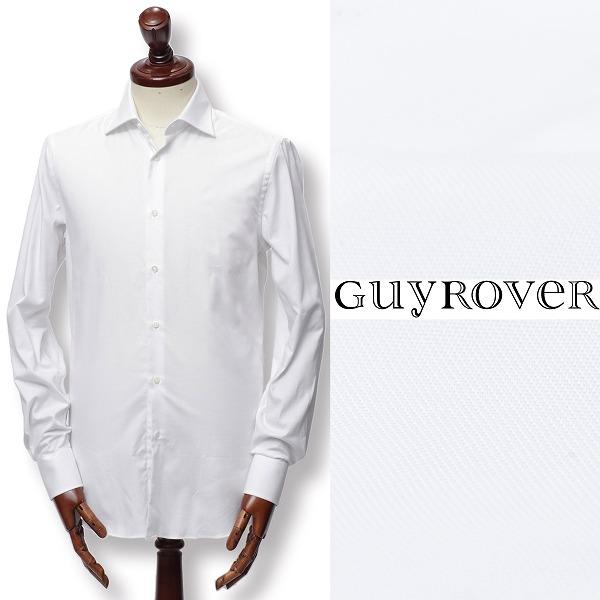 GUY ROVER / ギ ローバー / コットン / ドビー織り / ドレスシャツ / ホワイト w2670-w 100