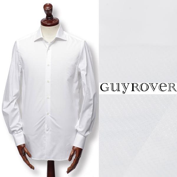 GUY ROVER / ギ ローバー / コットン / ドビー織り / ドレスシャツ / ホワイト w2670a-w