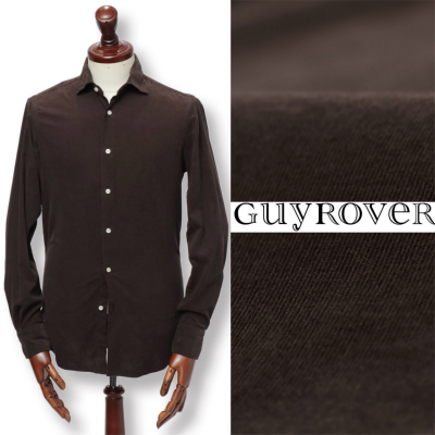 GUY ROVER / ギ ローバー / コーデュロイ コットン シャツ / ダークブラウン / w2670l-dbr 100 【返品不可】