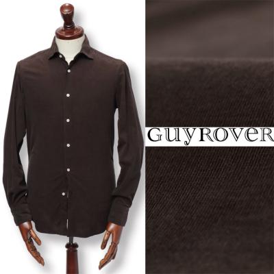 GUY ROVER / ギ ローバー / コーデュロイ コットン シャツ / ダークブラウン / w2670l-dbr
