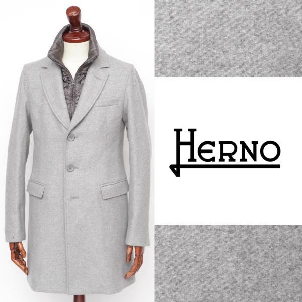 ヘルノ / HERNO /インナーダウン / ウール / チェスターコート / ライトグレー ca0045u-lgy 100