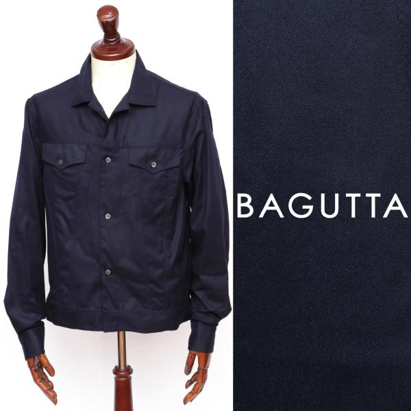 Bagutta / バグッタ / ウール / Gシャツ / ブルゾン /ネイビー clintgl-na 100 【返品不可】