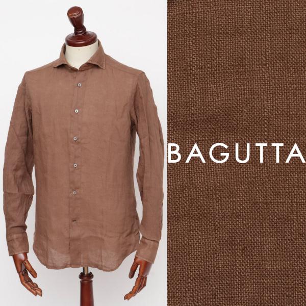 Bagutta / バグッタ / リネン / シャツ / ブラウン monacogblt-br 100 【返品不可】