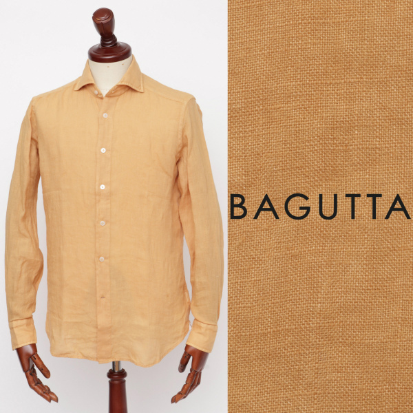 Bagutta / バグッタ / リネン / シャツ / オレンジ monacogblt-or 100 【返品不可】