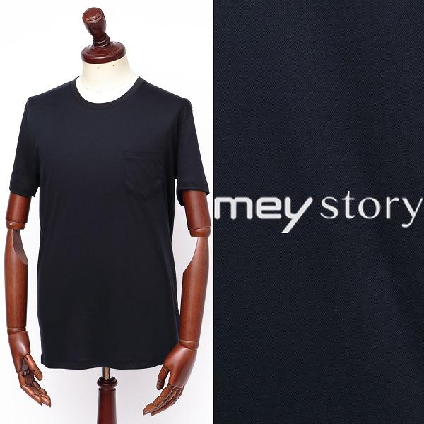 mey story / マイストーリー / ピマコットン / 半袖 / ポケット / Tシャツ / ネイビー ms191ua47231-na 100