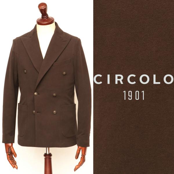 CIRCOLO 1901 / チルコロ1901 / 【セットアップあり】 ジ/ ャージ生地 / コットン / 6B / ダブルジャケット / ブラウン 9204a233501mb-br 100