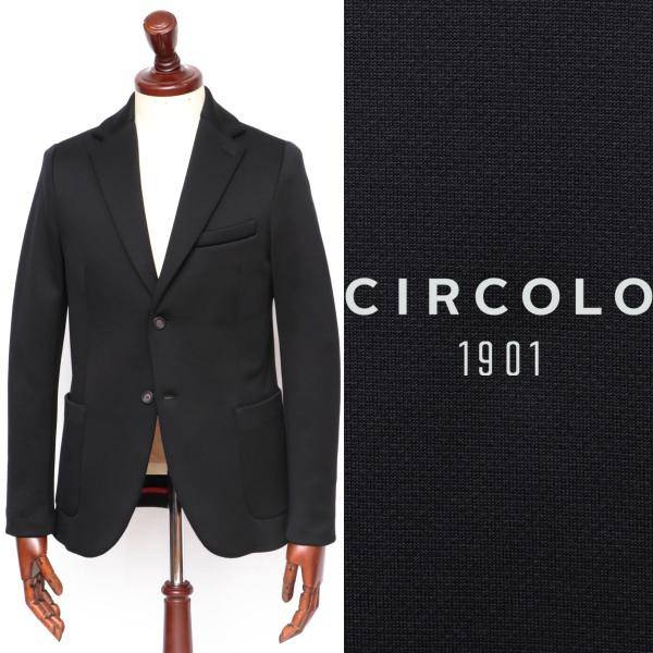 CIRCOLO 1901 / チルコロ1901 / 【セットアップあり】 テクノストレッチ / ジャージ / 2B / シングルジャケット / ブラック 9204a247241-bl 100 【返品不可】