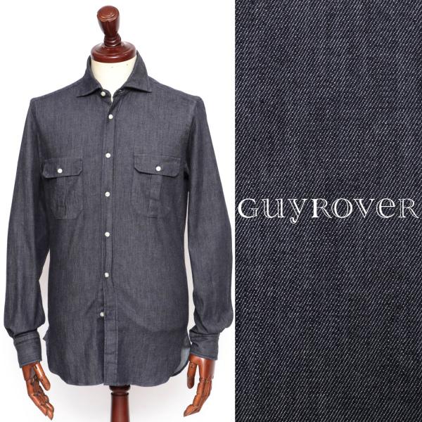 GUY ROVER / ギ ローバー / コットン / ストレッチ / デニム / シャツ / GR123LJ / インディゴ gr592408-indigo 100 【返品不可】