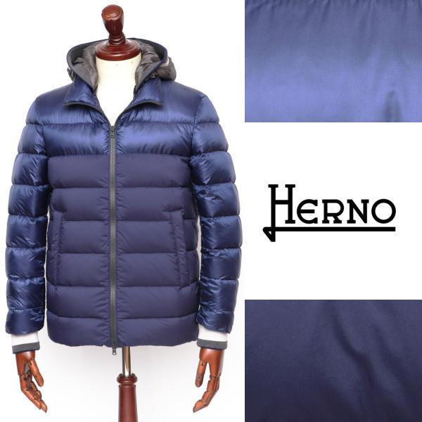 ヘルノ / HERNO / フーデッド / ダウンジャケット / ブルー 9220 pi0578u-bu 100 【返品不可】