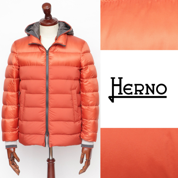 ヘルノ / HERNO / フーデッド / ダウンジャケット / オレンジ 54010 pi0578u-or 100 【返品不可】