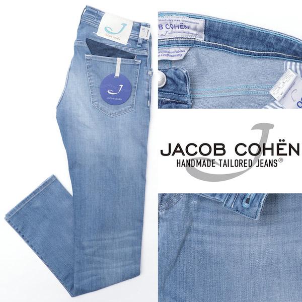 JACOB COHEN / ヤコブ コーエン / J622 / COMF / ストレッチ / デニムパンツ / サックス 10275-sax 100