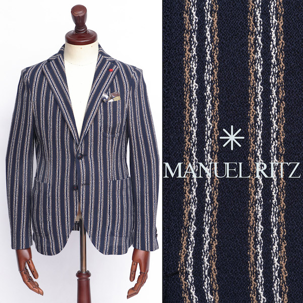 Manuel Ritz / マニュエル・リッツ / コットン / 2B / シングル / ジャケット / ネイビー 2832g2571m-na 100