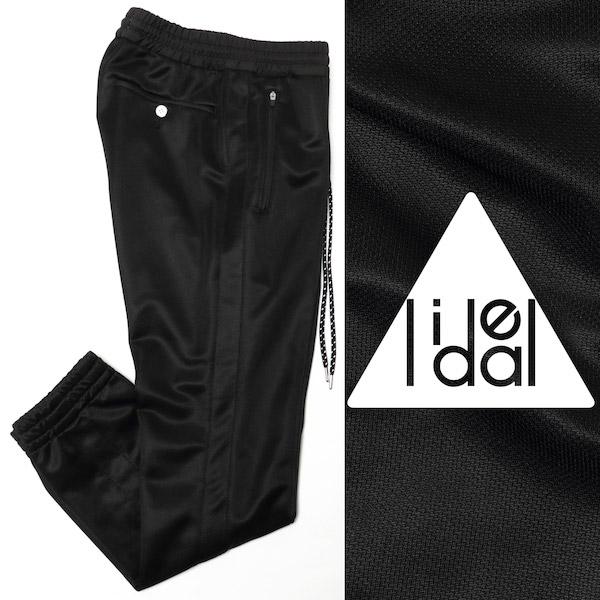 LIDEAL / リディアル / PEEL / ブライトブリスター / ストレッチ シャーリング / センタークリース / パンツ / ブラック 95201005-bl 100