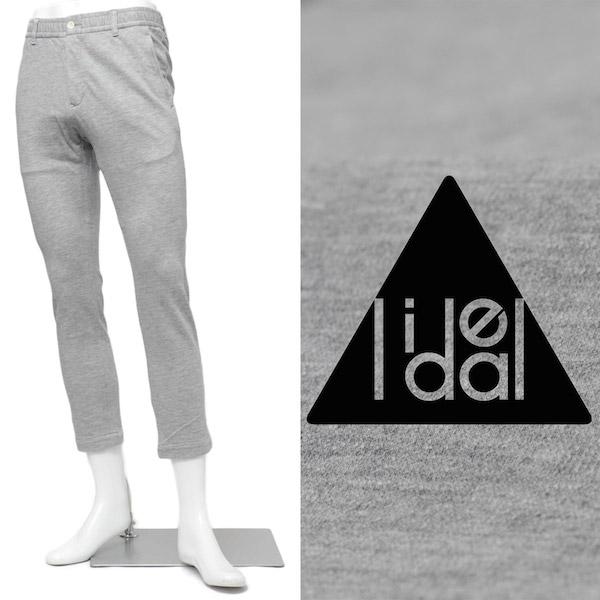 LIDEAL / リディアル / PLAN / ジャージー素材 / クロップド丈 / イージーパンツ / グレー 95273110it-gy 100