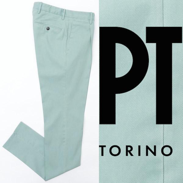 ピーティートリノ / PT TORINO / PASTEL SPECIAL / ガーメントダイ / コットン / ストレッチ / パンツ / SUPERSLIM FIT / ライトグリーン cpdl11z00pa2-lgr 100
