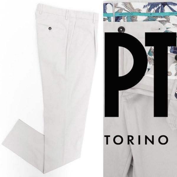 ピーティートリノ / PT TORINO / PASTEL SPECIAL / ガーメントダイ / コットン / ストレッチ / パンツ / SUPERSLIM FIT / オフホワイト cpdl11z00pa2-ow 100