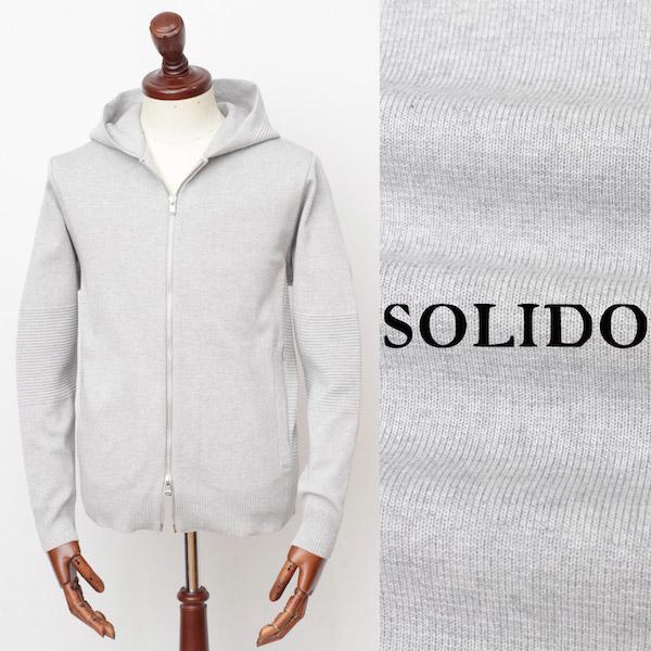 ソリード / SOLIDO / 【セットアップあり】 / ORDITO / コットンポリエステル / ジップアップパーカー / ライトグレー msl19s833-lgy 100
