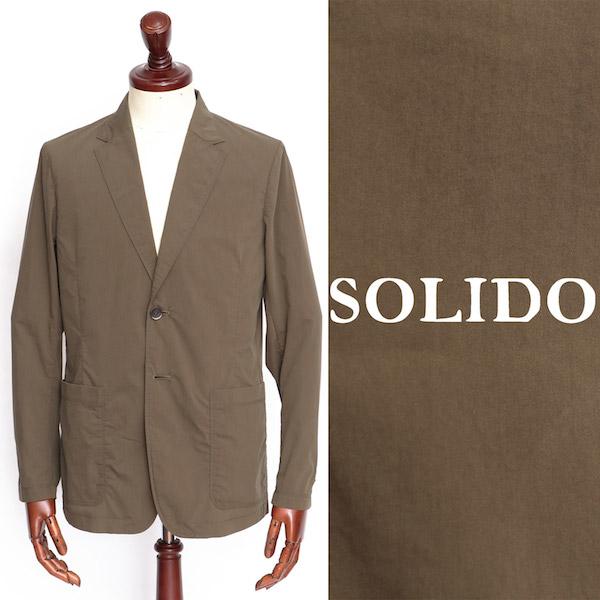 ソリード / SOLIDO / 【セットアップあり】 / コットン / ポリエステル / 2B / シングル / ジャケット / カーキ msl20s4019-ka 100