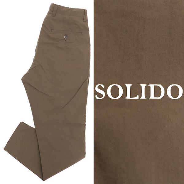 ソリード / SOLIDO / 【セットアップあり】 / コットン / ポリエステル / ワンプリーツ / ドローコード / パンツ / カーキ msl20s5555-ka 100
