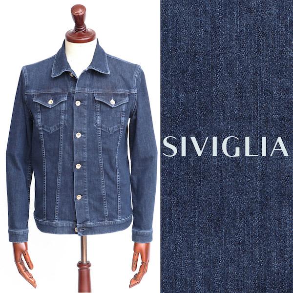 シビリア / SIVIGLIA / ストレッチ / デニムジャケット / ネイビー o0m2s4176001-indigo 100