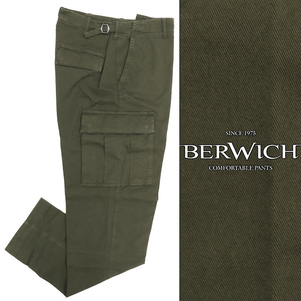 BERWICH / ベルウィッチ / CARGO-T / コットン / ワイド / カーゴ / パンツ / カーキ wcargots0001x-ka 100