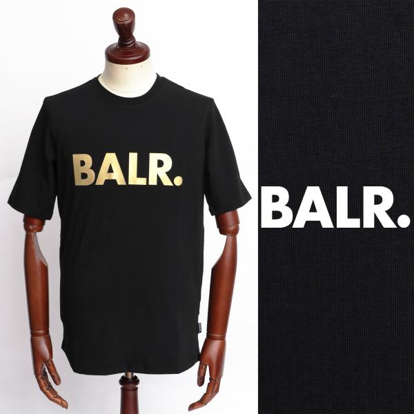 BALR ボーラー BRAND SHIRT ロゴ Tシャツ 100 ブラック ゴールド 送料無料 一部地域を除く 126050259-blgd 保障 ×