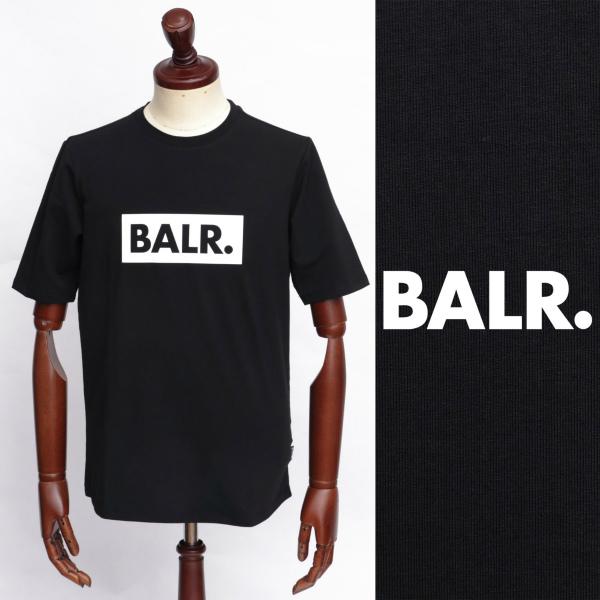 BALR ボーラー 超激安 CLUB SHIRT ロゴ Tシャツ × 126050576-blw ブラック ホワイト 100 上質