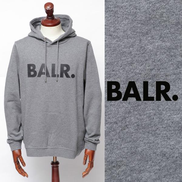 ボーラー / BALR / BRAND HOODIE / ロゴ / スウェット / パーカー / グレー × ブラック 126050670-gybl 100