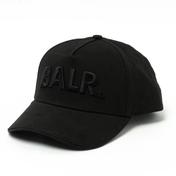BALR ボーラー CLASSIC COTTON 訳あり品送料無料 超安い CAP BLACK ロゴ入り ブラック 100 × ベースボールキャップ コットン 126051935-blbl