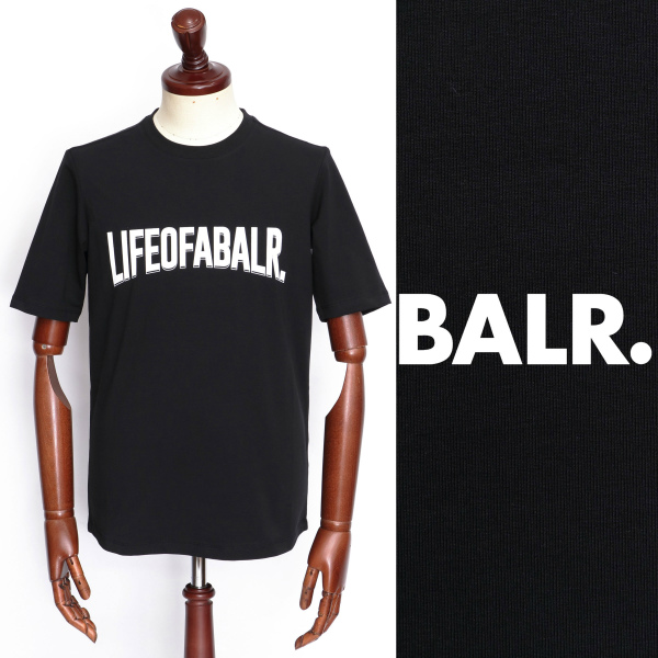 BALR ボーラー LOAB 数量は多 - ATHLETIC SHIRT ロゴ Tシャツ ブラック 大好評です b10064-bl 100
