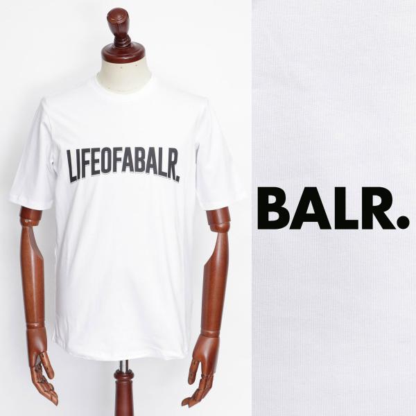 BALR ボーラー LOAB - 最安値挑戦 ATHLETIC SHIRT Tシャツ ホワイト ロゴ 100 b10064-w 新作送料無料