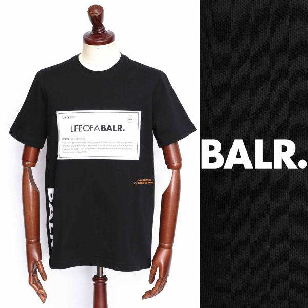 ボーラー / BALR / PATCH SHIRT / ロゴ / Tシャツ / ブラック b10090-bl 100